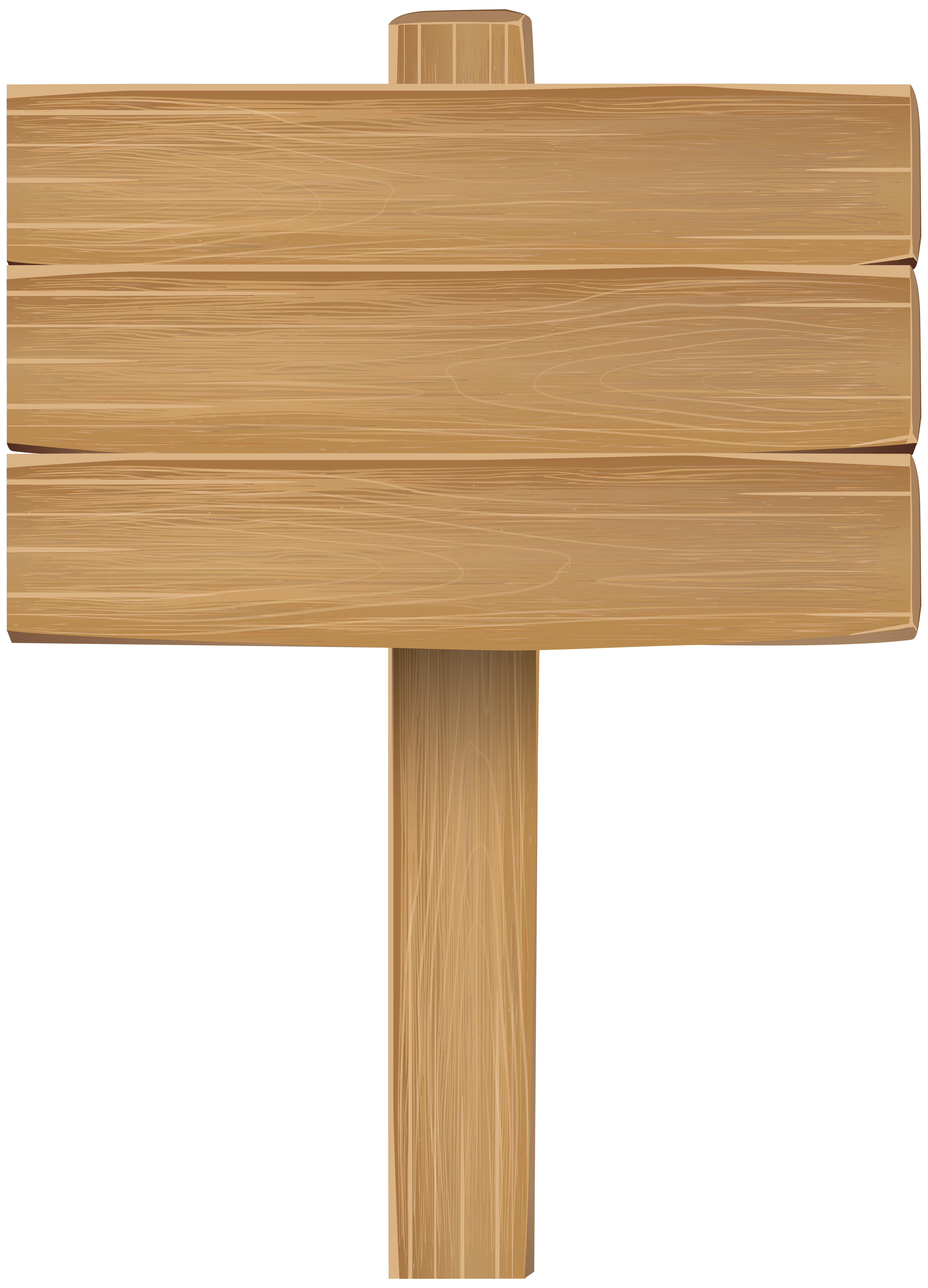 Wooden Sign PNG Clipart Image.
