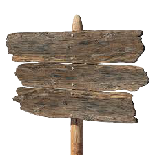 Wood Sign Transparent PNG Pictures.