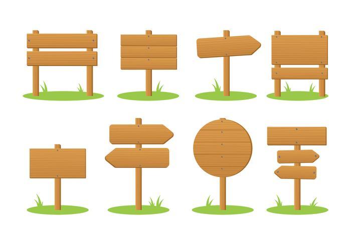 Blank Madeira Wooden Signpost Vector.