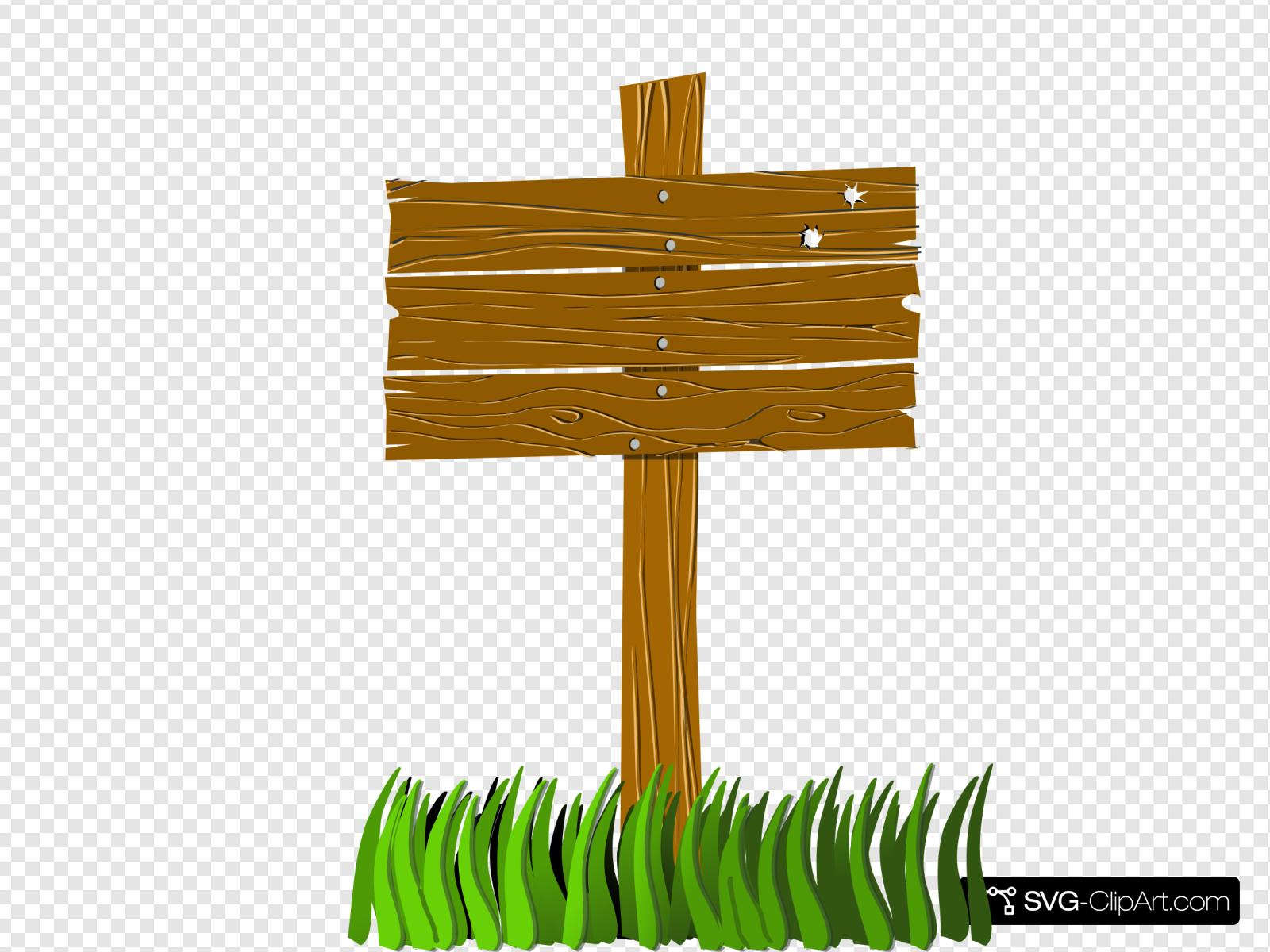 Wood Sign Clip art, Icon and SVG.