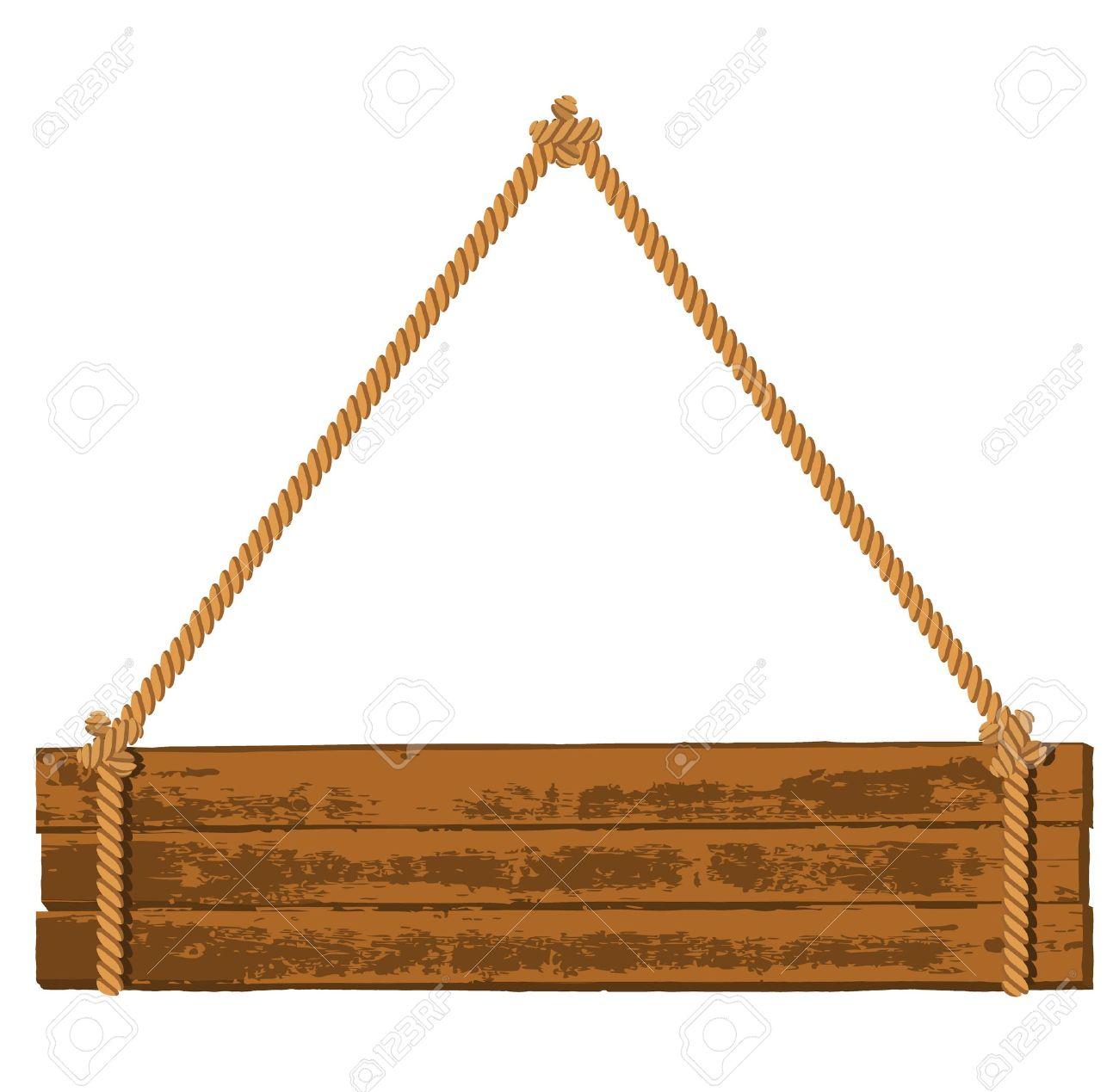 Wooden signboard.