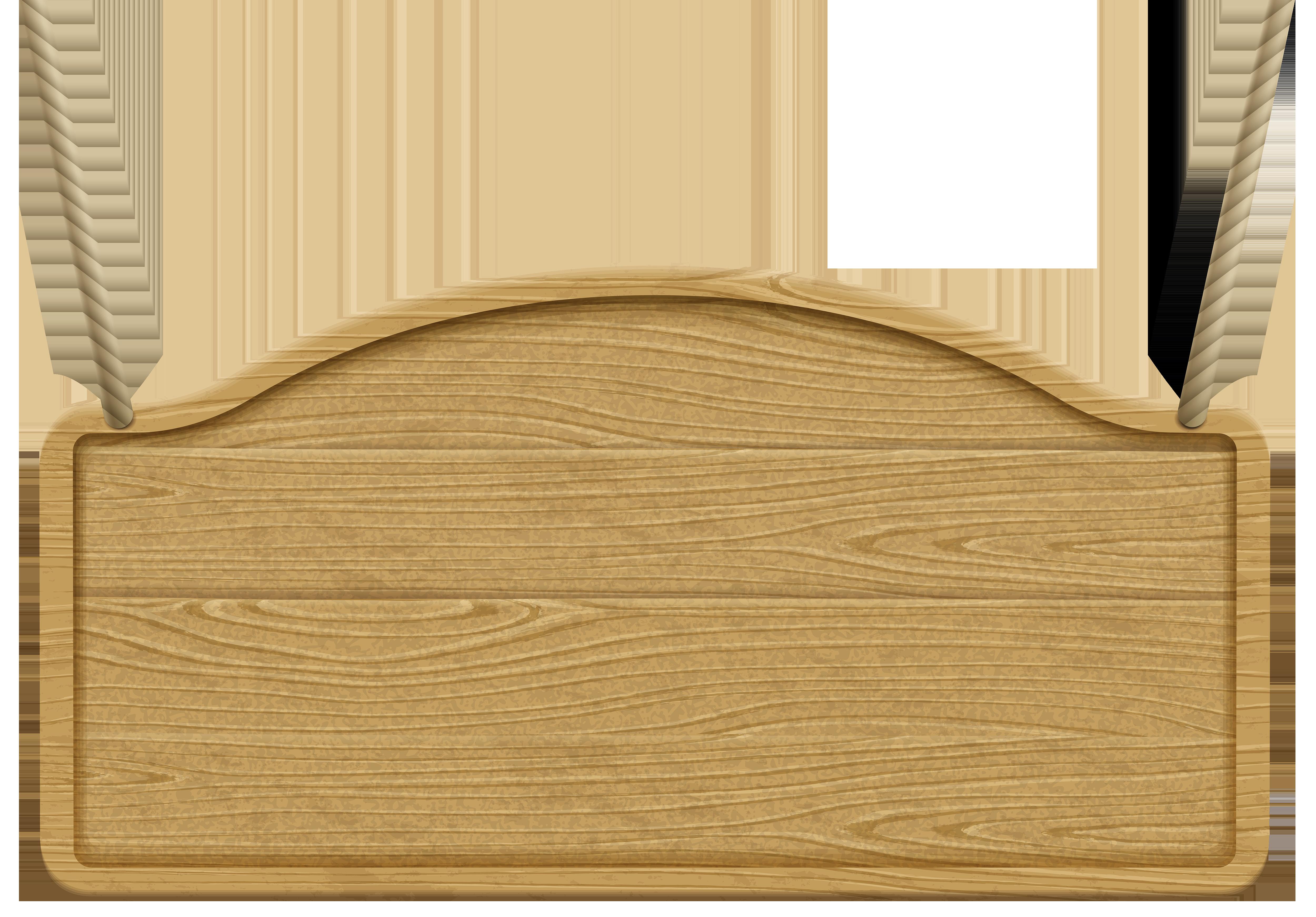 Wooden Signboard Transparent Clip Art Image.