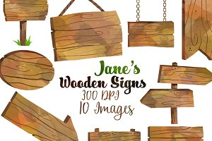 Wooden sign clipart Photos, Graphics, Fonts, Themes, Templates.