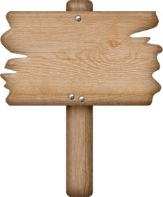 Blank wooden sign clipart.