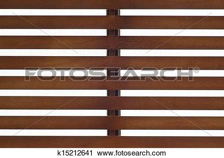 Stock Photography of Wooden slat roof. k15212641.