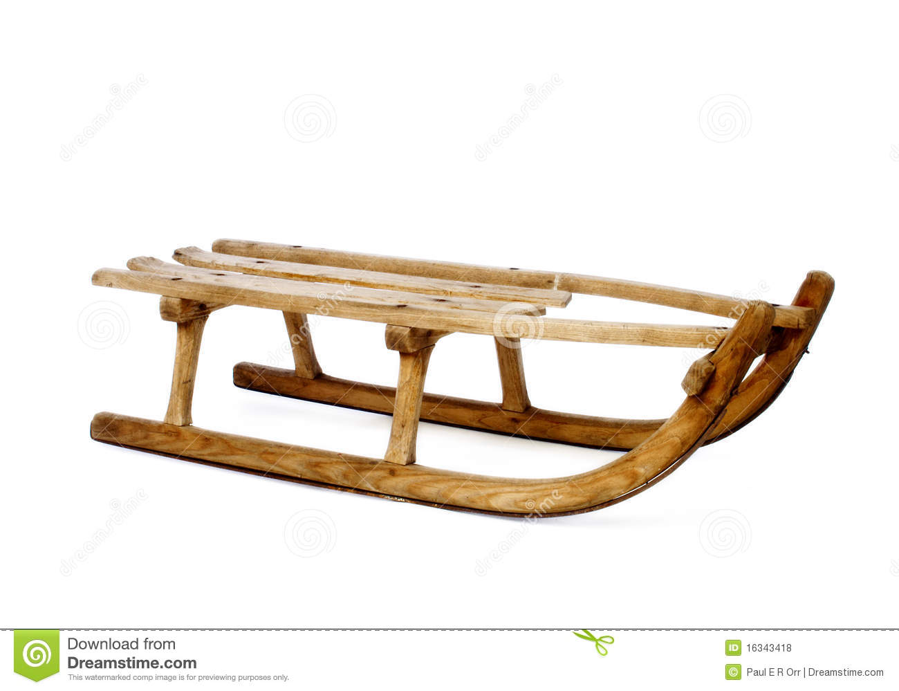 Wooden Sled Royalty Free Stock Photography.