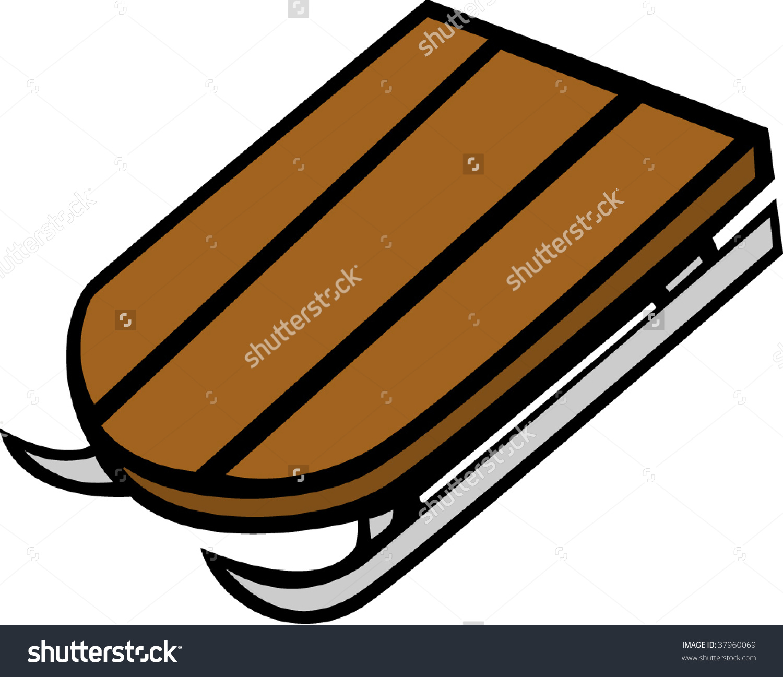 Wooden Sled Stock Vector Illustration 37960069 : Shutterstock.