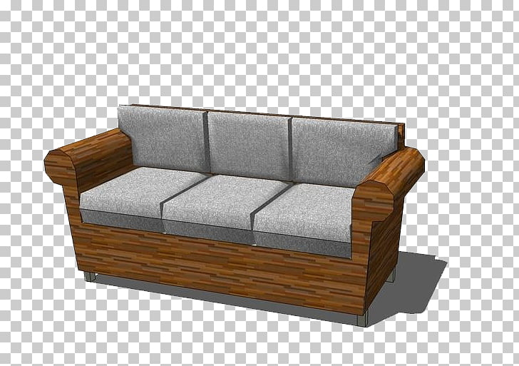 Couch Sofa bed Living room Furniture Wood, Gray wooden sofa.