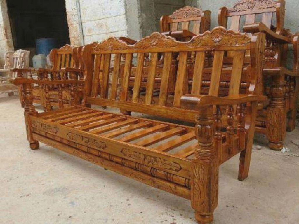 Wooden Furniture sofa Wooden sofa Set Google Search for Wood.