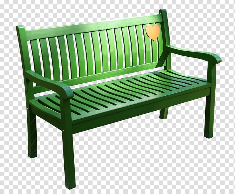 green wooden sofa illustration transparent background PNG.