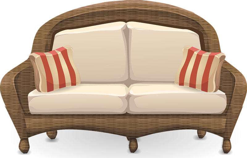 Couch clipart wooden sofa, Couch wooden sofa Transparent.