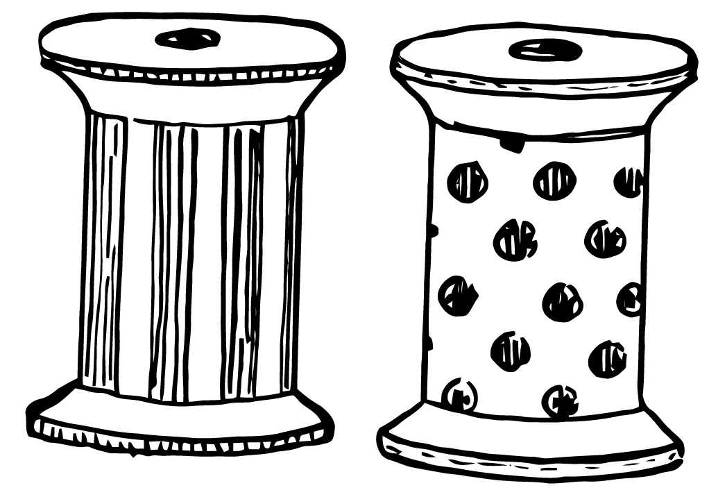 Free Vector Art: 2 Spools of Thread.
