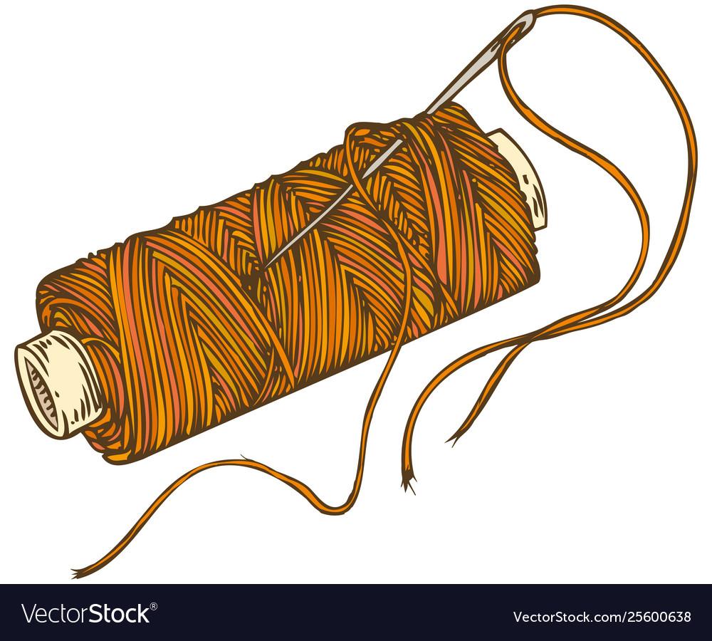 Spool orange thread.