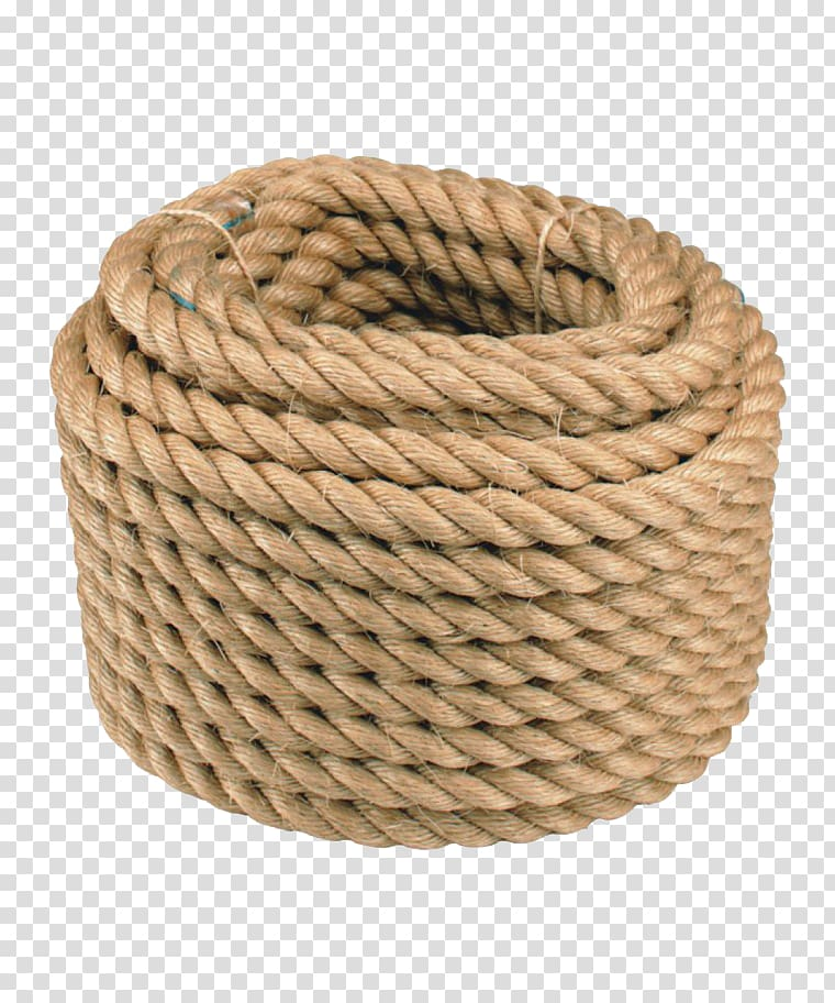 Roll of brown rope illustration, Manila rope Deck Sisal Wire.