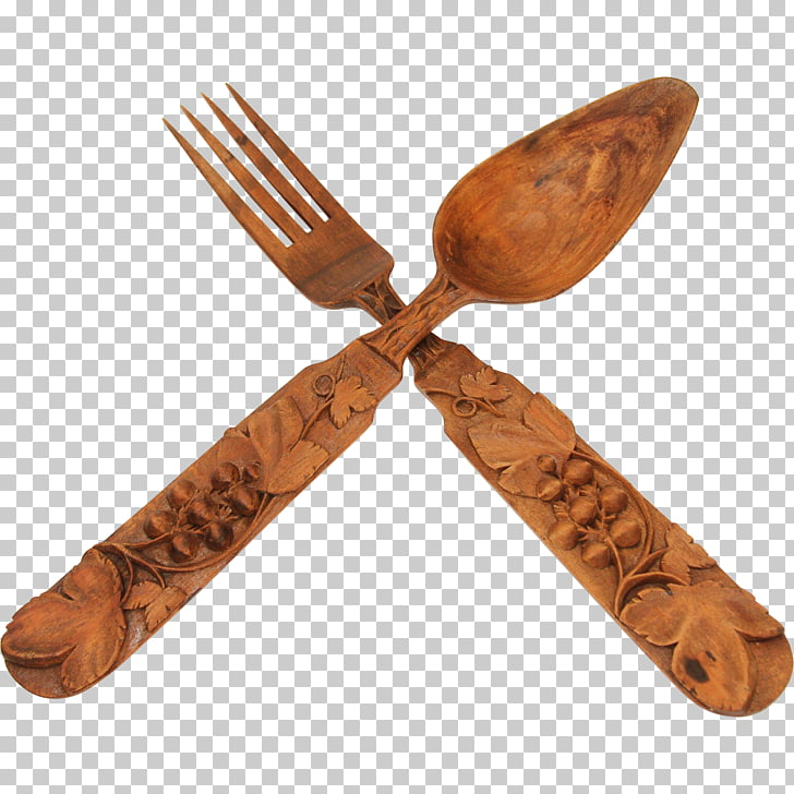 Cutlery Wooden spoon Fork, fork PNG clipart.