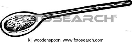 Clipart of Wooden Spoon ki_woodenspoon.