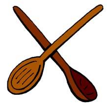 Wooden spoon clip art.