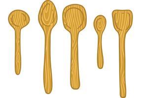 Wooden Spoon Free Vector Art.