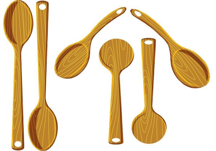 Wood Spoon Vectors.