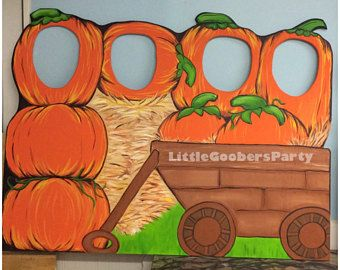Pumpkin Patch Wooden Photo Op Prop . Large Festival Photo.