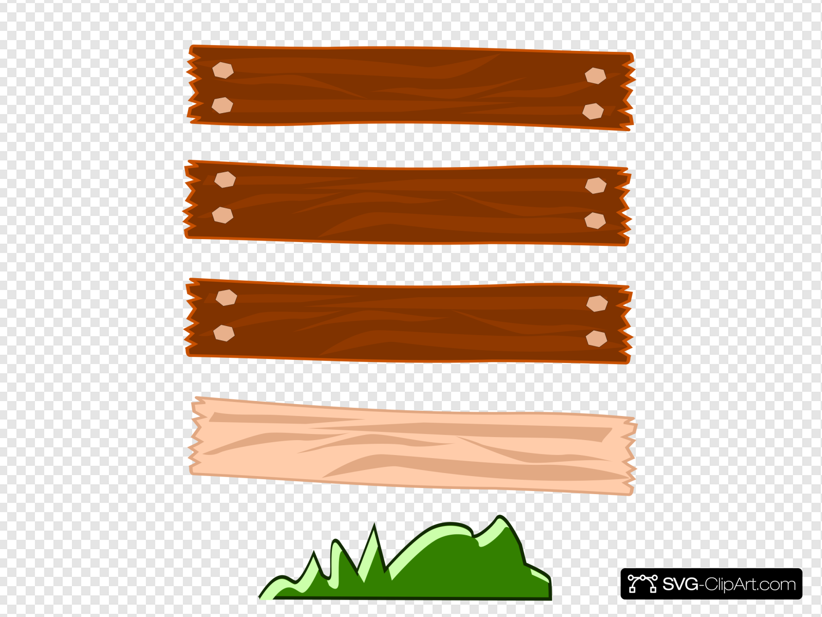 Wood Street Sign Clip art, Icon and SVG.