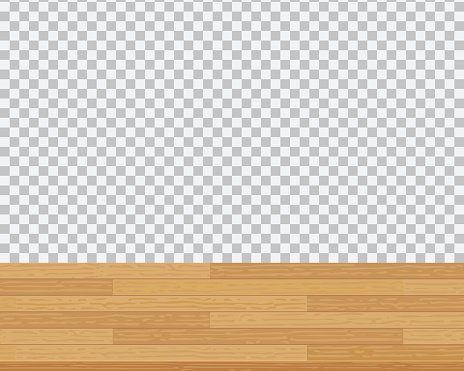 Wooden table top on a checkered background. Clipart Image.