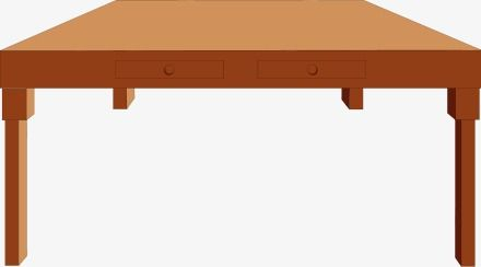 Wooden Table, Cartoon, Table PNG Transparent Clipart Image.