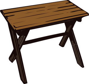 Collapsible Wooden Table Clip Art at Clker.com.