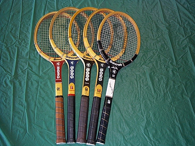 wood tennis rackets, books, antiques collectibles.