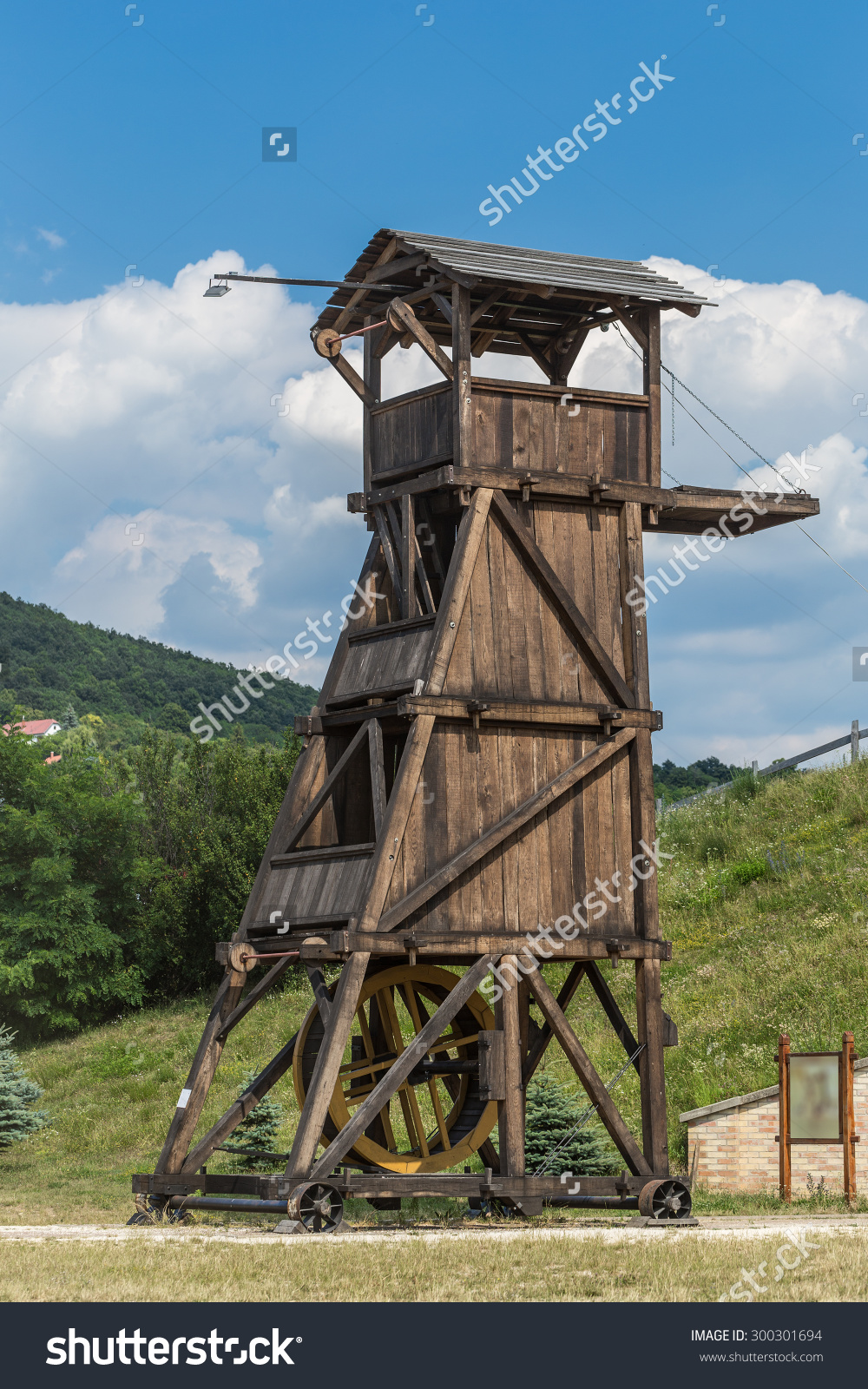 Wooden Belfry Siege Tower Used Attack Stock Photo 300301694.