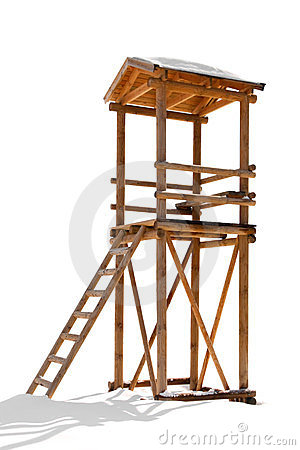 Wooden Lifeguard Tower Royalty Free Stock Images.