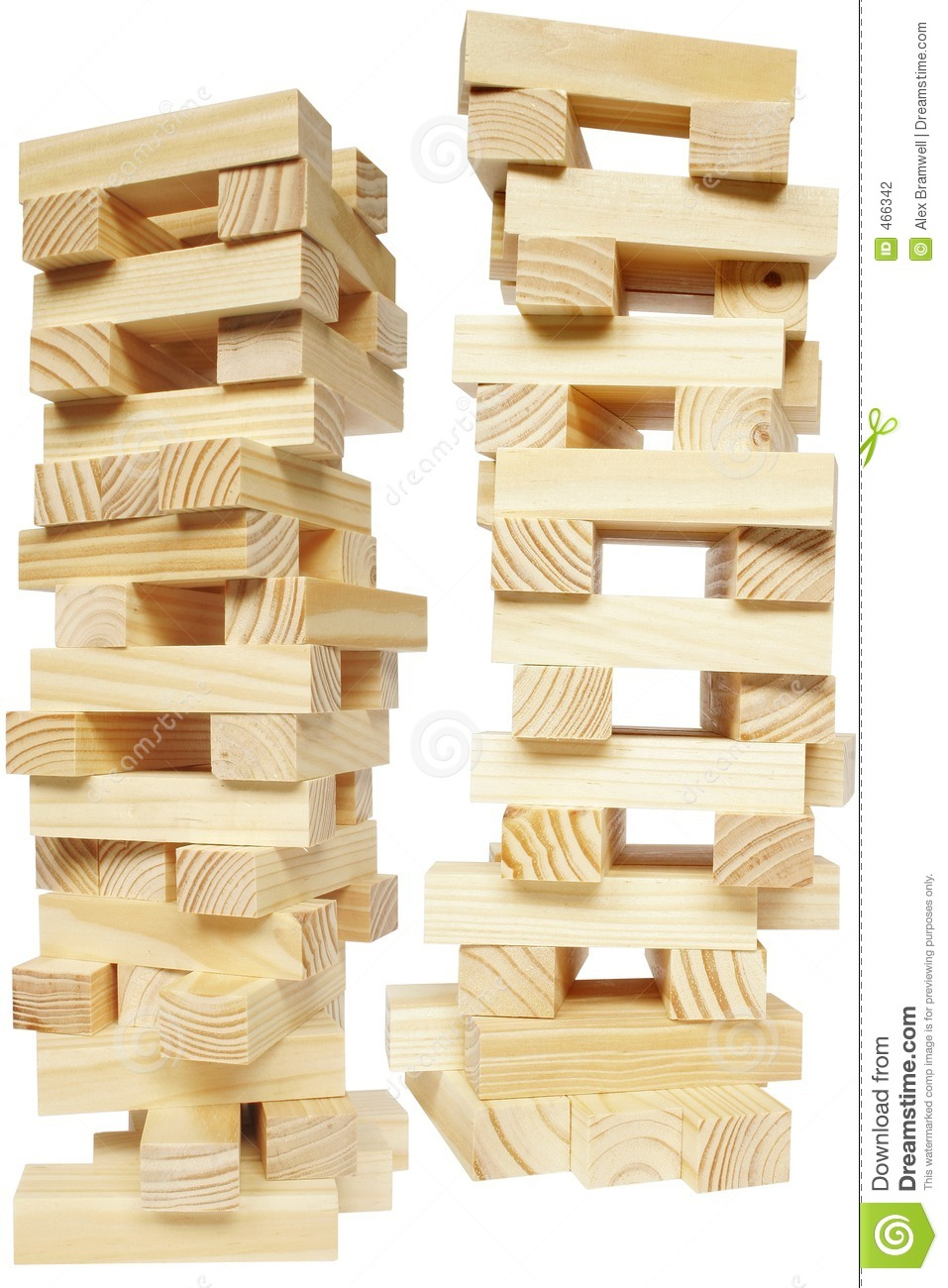 Wood Block Tower Stock Photography.