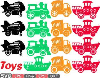Toys Machine clipart toy cars airplane boat train stickers school wooden.