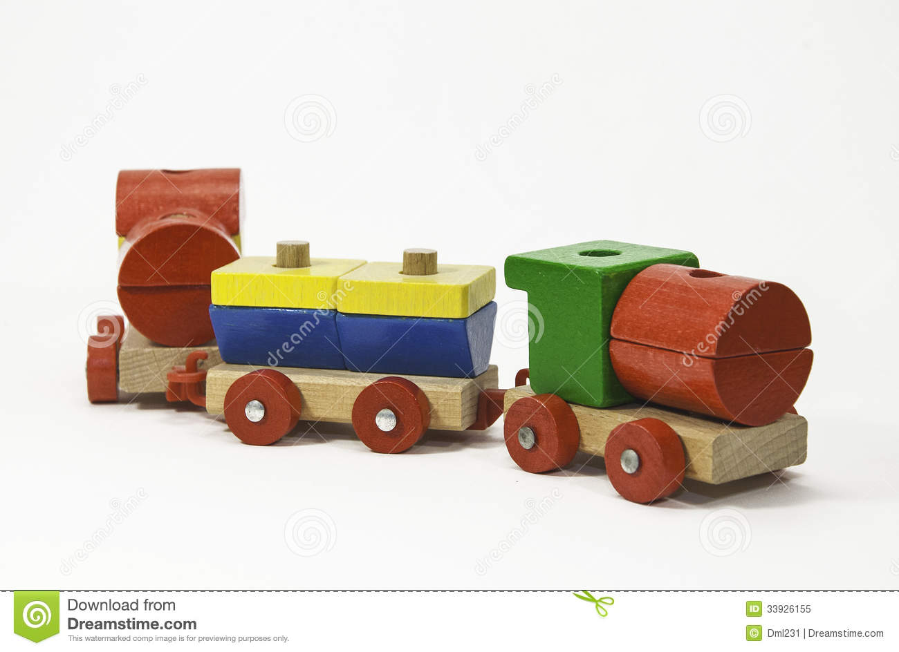 Wooden Toy Train Royalty Free Stock Photo.