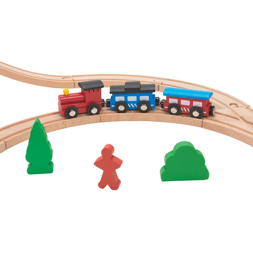 40 Piece Wooden Train Set.