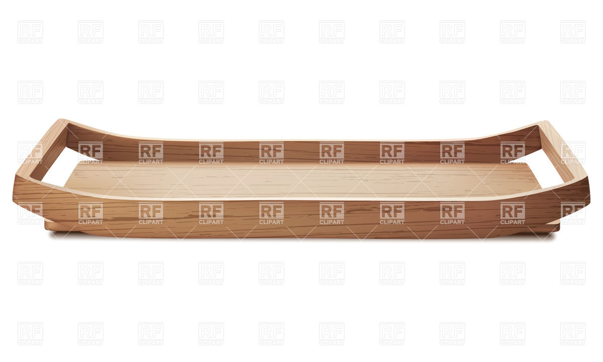 Wooden tray Vector Image #37664.