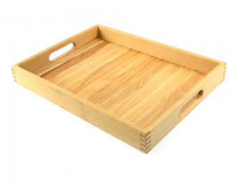 Wood tray.