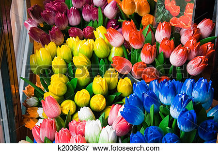 Picture of Wooden tulips in shop for sale k2006837.