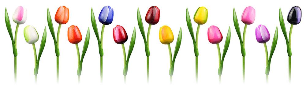 Wooden Tulips.