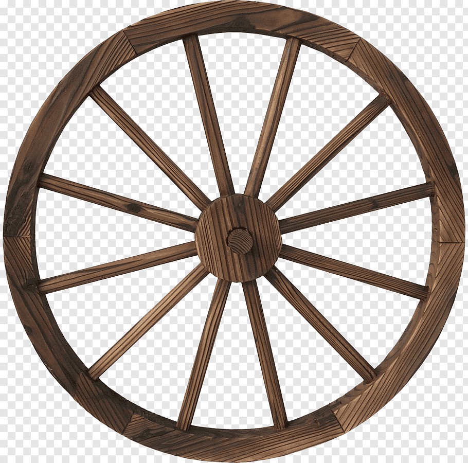 Brown wooden carriage wheel, Covered wagon Wagon Wheels Cart.