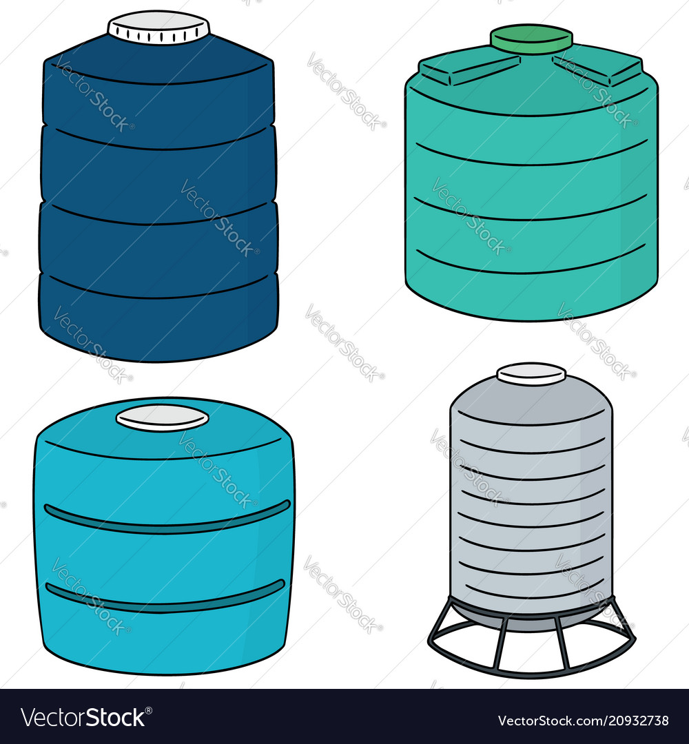 Set of water storage tank.