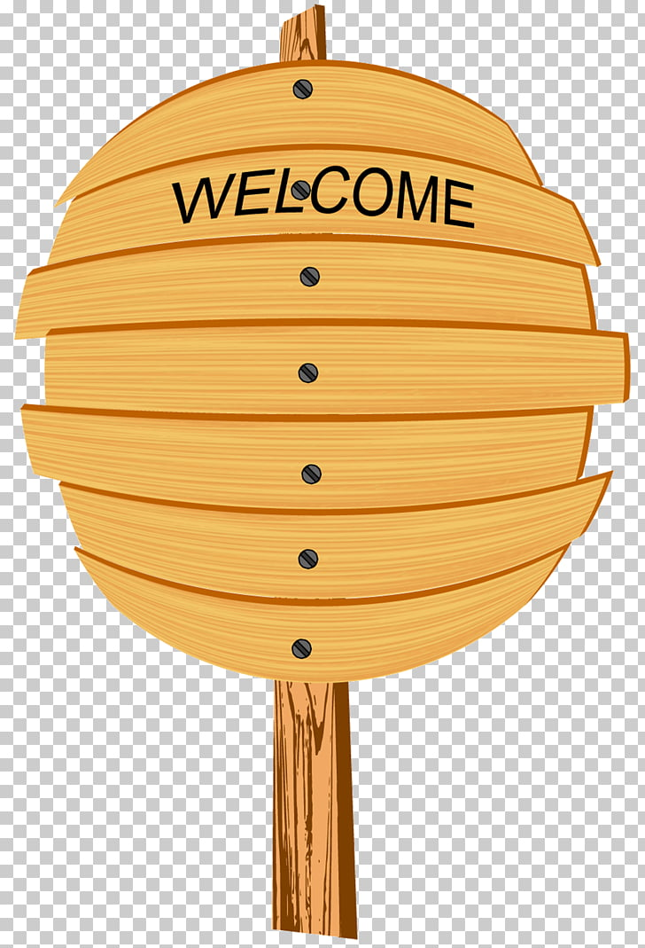 Cartoon Wood, Simple oval wooden welcome signs PNG clipart.