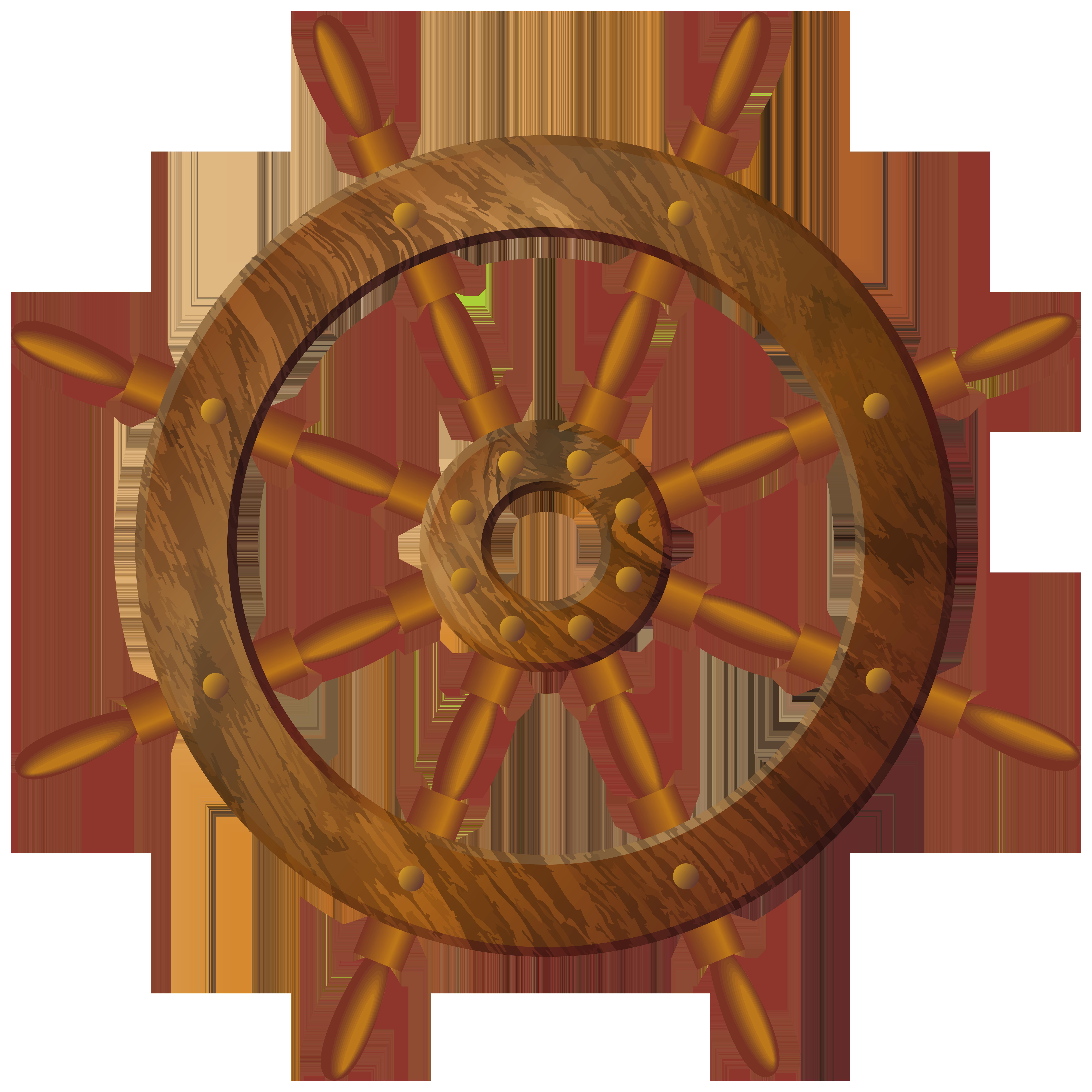 Wooden Wheel Transparent PNG Clip Art Image.