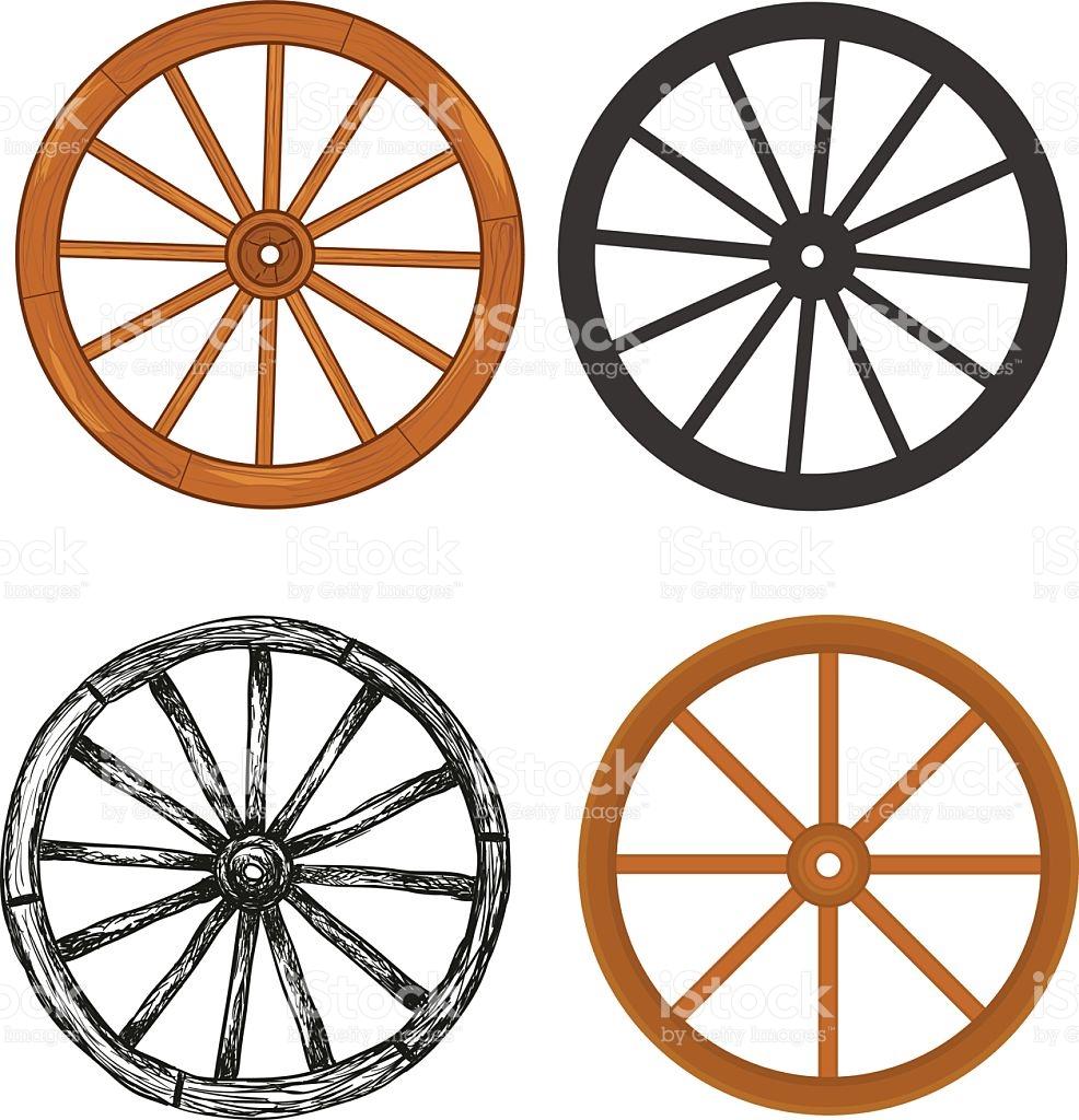 Wooden Wheel stock vector art 528606532.