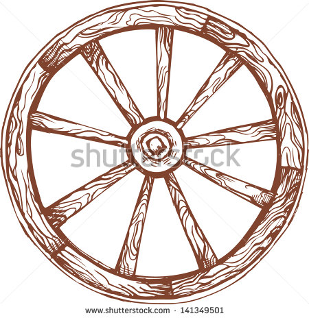 Wooden Wheel Stock Photos, Royalty.