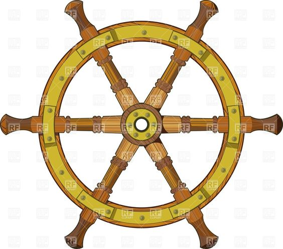 ship steering wheel clipart.