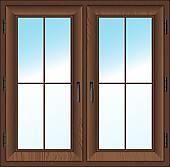 Wooden Window Clip Art.