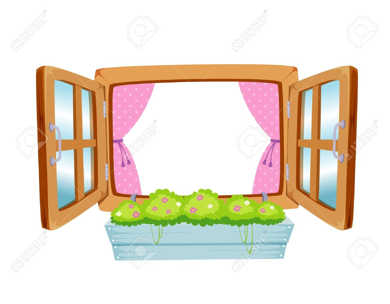Wooden Window Clipart.