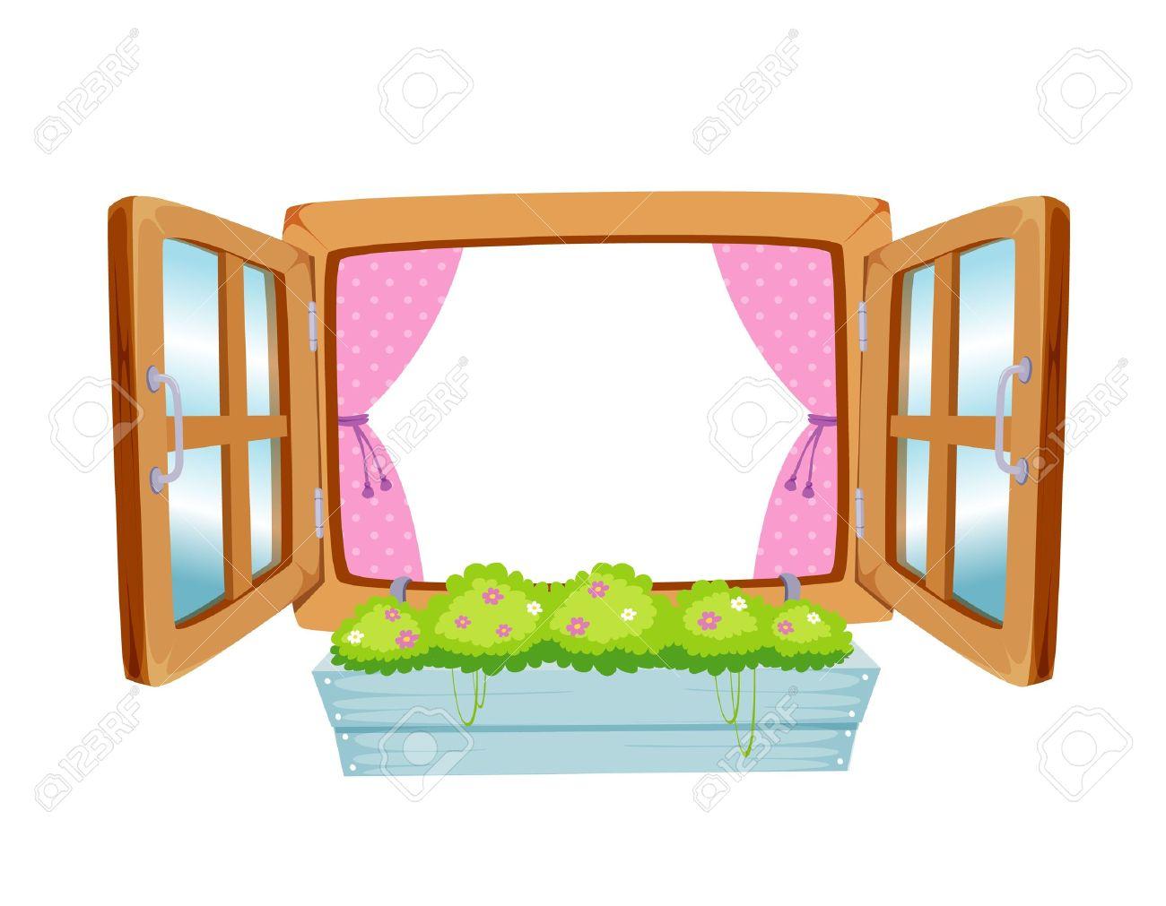 Wooden Window Clipart.