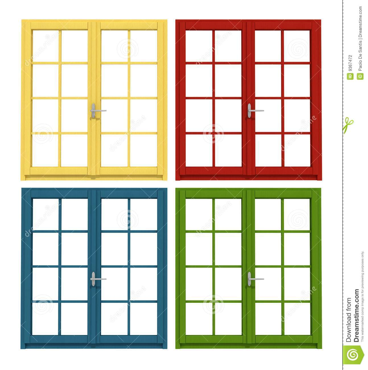 House wood window clipart.